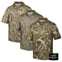 DRAKE WATERFOWL SYSTEMS PERFORMANCE CAMO POLO WITH ACCENTS SHORT SLEEVE