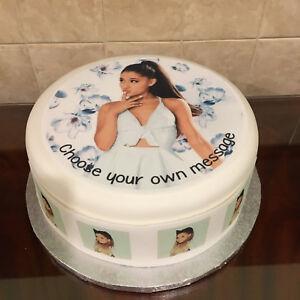 Ariana Grande 03 pre-cut Edible Icing Cake Topper or Ribbon