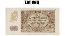 POLAND - POLEN 10 ZLOTYCH 1940  German Occupation Poland WWII SUP