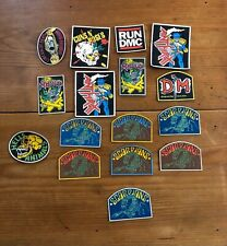 VINTAGE 80s 90s heavy thrash metal rubber patches Scorpions Metallica Anthrax