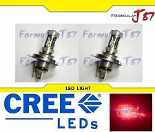 CREE LED 30W 9003 HB2 H4 RED TWO BULB HEAD LIGHT REPLACEMENT SHOW OFF ROAD LAMP