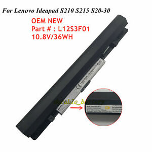 36Wh OEM New Battery L12S3F01 For Lenovo IdeaPad S210 S215 Touch S20-30 L12M3A01