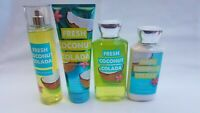 Bath & Body Works FRESH COCONUT COLADA  MIST LOTION SHOWER GEL CREAM You Choose