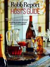 Robb Report Magazine HOST'S GUIDE 2016 Around The World Taste of Lavish Bottling