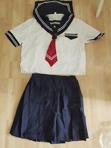Schuluniform Schulmädchen Kostüm Japan Cosplay XS-S, 34-36 neu