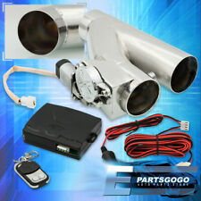 """2.5"""" Electric Exhaust Catback/Downpipe Cutout Valve System Kit W/ Remote Control"""