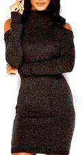 Women's Sexy Winter Long Sleeve Knit Bodycon Sweater Dress*Black*Medium*New*