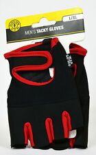 GOLDS GYM Men's Tacky Gloves Black Red Weight Lifting L/XL *NEW*