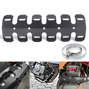 Motorcycle Exhaust Muffler Pipe Heat Shield Protector Cover Ankle Guard Silencer