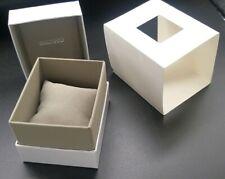 Genuine Seiko White Watch Box With A Grey Velvet Cushion & Interior & Outer Box