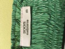 Soon Melbourne short sleeved green striped womens top medium
