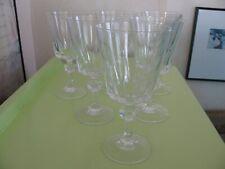 """Lot 6 Vintage Princess House Crystal Esprit Water Goblets 6.75"""" Goblets Mint"""