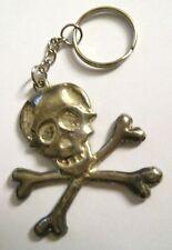 Skull & Crossbones Keychain - Skeleton Steampunk Pirate Momento Mori Keyring