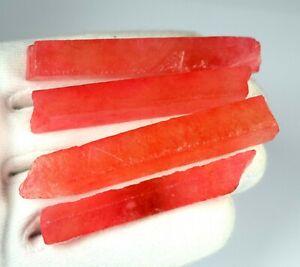 Natural Orange Sapphire 300 Carat //5 Pcs African Gemstone Slice Rough Lot