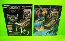 Spider-Man Pinball FLYER Set of 2 Marvel Comics Super Hero Artwork Stern Venom