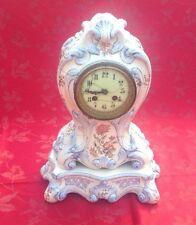 Reloj Antiguo Francés Cerámica Y Base Con Péndulo para restauración