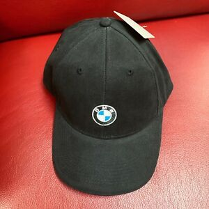BMW Lifestyle Logo Baseball Cap Dad Hat Black Authentic New With Tag NWT