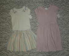 Carter's Geometric Pocket Dress & Floral Tee w/ Striped Skirt Easter Church- NWT