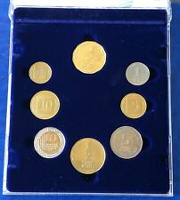 Israel Official New Sheqel 8 Mint Piefort Coins 1999 Set Hi-Tech Industry UNC