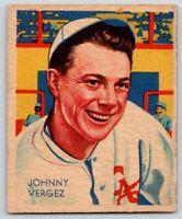 1934 Diamond Stars #21 Johnny Vergez Philadelphia Phillies 3B