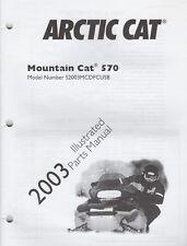 2003 Arctic Cat Snowmobile Mountain Cat 570 Parts Manual P/N 2256-759 (333)