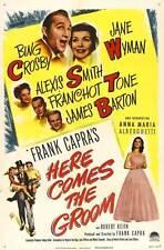HERE COMES THE GROOM Movie POSTER 11x17 Bing Crosby Jane Wyman Franchot Tone