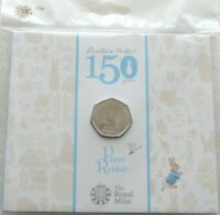 2016 British Royal Mint Beatrix Potter Peter Rabbit 50p Fifty Pence Coin Pack