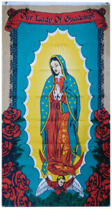 Our Lady Of Guadalupe (Roses) Vertical 3x5 3'x5' Premium Quality Poly Flag (FI)