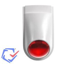 Alarm Attrappe Sirene Roter Blinker Anlage Dummy Innen & Außen Sicherheit Schutz
