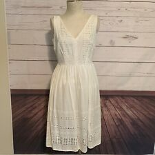 NWT Jonathan Martin sleeveless Ivory eyelet sheath dress $100 size 10 lined