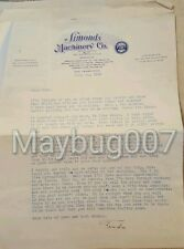 Vintage Correspondence 2 Letters San Francisco to Springfield, OH 1935 Simonds
