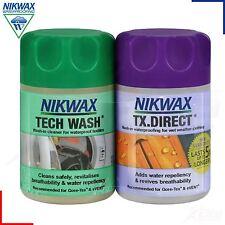Nikwax Tech Laver & TX Direct Twin Pack Nettoyage Vêtements Imperméables 150ml
