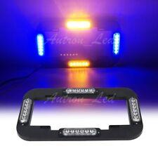 "13.6"" LED Amber Blue License plate lights Traffic Adviser Flashing Strobe Signal"