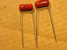 2 Nos Vintage Sprague Orange Drop .01 uf 600v Old Guitar Tone Capacitors (Qty)