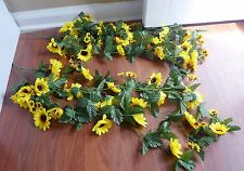"30"" Artificial Sun Flower Vine Garland Arch Home Wedding Decor Set of 2"