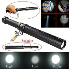 2000 Lumen CREE Q5 LED Zoomable Baseball Bat Flashlight Security Torch Lamp Tool