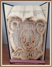Cabeza Del Oso patrón Plegable De Arte Libro plegada sólo #3535