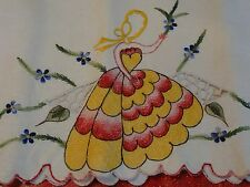 Vintage 1950's Pillow Case Set of Two Made in Mexico