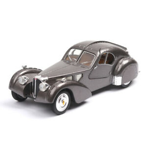 Classic car model antique car model Bugatti car toy sound and light gift