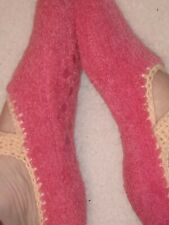 3 prs Fuzzy Slipper Socks with Small Rubber Grips on bottoms. Multiple Colors