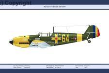 W.W.2 MILITARY AIRPLANE GERMAN MESSERSCHMITT Bf-109 1941 PRINT A3 SIZE