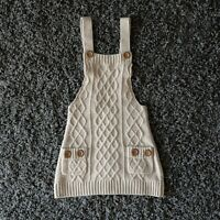 Knitted Bodycon Overall Dress - Size S Brown *Excellent Condition*