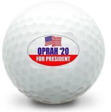 1 Dozen Brand New Oprah For President 2020 Logo) White Golf Balls in Sleeves