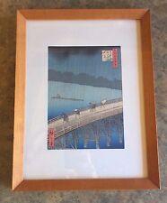 Hiroshige Japanese Woodblock Print Sudden Shower at Ohashi Masterpiece 1857