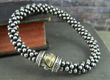 Lagos Caviar Beaded 6mm Sterling Silver & 18K Gold Bracelet