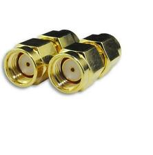 SMA Male to RPSMA Male GSM Coaxial Connector Adapter Gold Antenna Copper