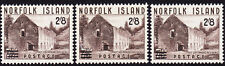 1960 Norfolk Island 2'8 on 7 1'2d Surcharge x 3 MNH
