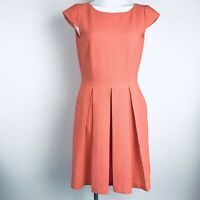 ALEX MARIE Pleated Textured  Coral Women Dress. Size 4. Excellent Condition