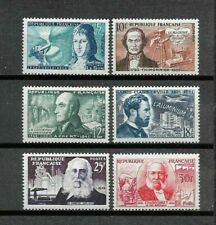 """France 1955. Complete Series 6 new stamps **. """"Famous people""""            (7091)"""