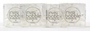 3 Packs Invisibobble Nano Crystal Clear 3 Ct Traceless Hair Rings No Split Ends